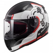 Κράνος LS2 353.27 Rapid Ghost White / Black / Red