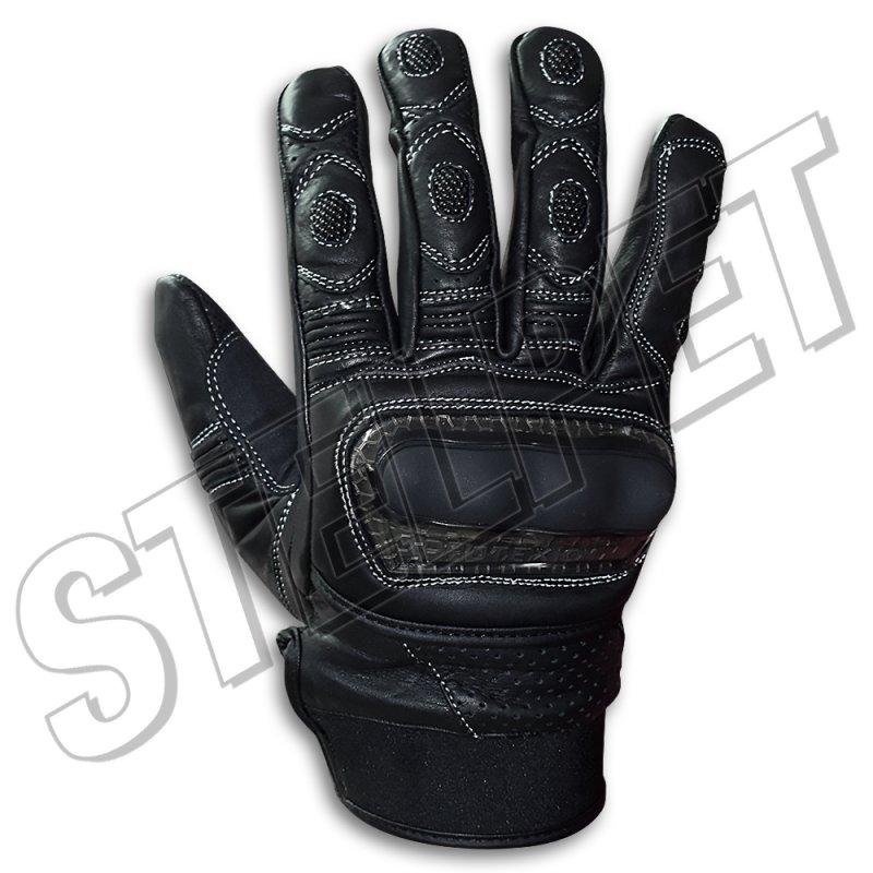 Γάντια μηχανής Milano μαύρα δερμάτινα - Stelpet.gr b4dd194f694
