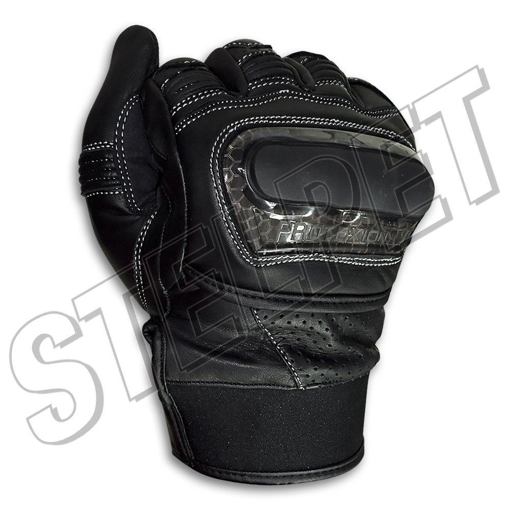 Γάντια μηχανής Milano μαύρα δερμάτινα d4e02bcf514
